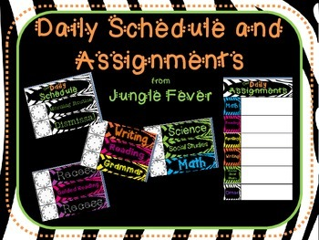 Zebra Daily Schedule and Assignment Display