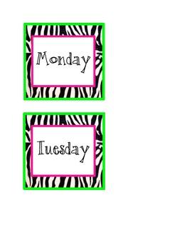 Zebra Day Labels