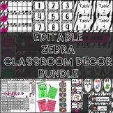 Zebra Decor Mega Bundle (Editable Growing Bundle)