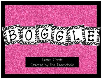 Zebra Design Boggle Cards