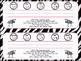 Zebra Desk Name Tags