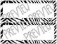 Zebra Editable Name Tags Desk Tags Room Decor