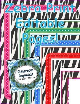 {Zebra} Editable pages