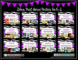 Genre Posters {11 Posters} Primary, Zebra Theme, Purple