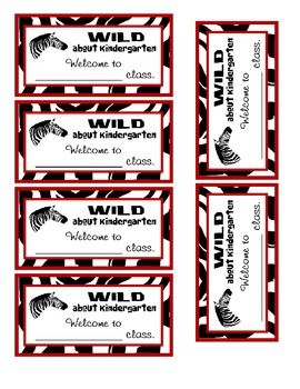 Zebra Goody Tags Kinder