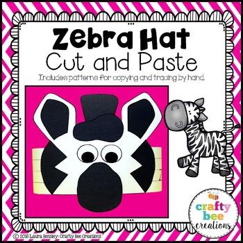 Zebra Hat Cut and Paste