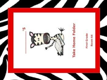 Zebra Homework Folder Labels