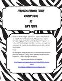 Zebra Musical Instrument Family Poster or Game