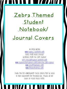 Zebra Journal Covers