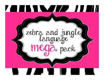 Zebra Jungle Language Mega Pack, over 104 items, Primary,