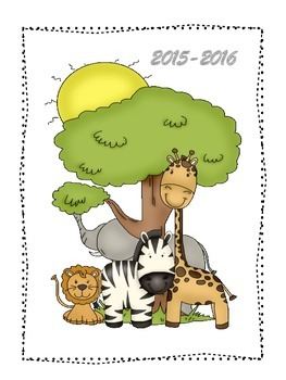 FREE Zebra Jungle Teacher Binder Cover-Dividers