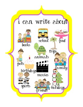 Zebra Jungle Themed Writing Center (labels and examples)