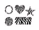 Zebra Jungle Themed labels and shapes (safari) EDITABLE