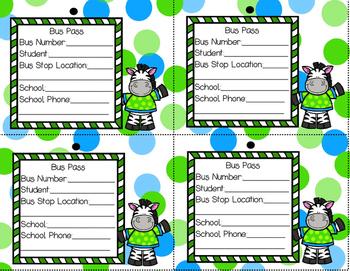 Zebra Kindergarten Pack