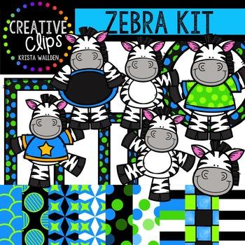Zebra Kit {Creative Clips Digital Clipart}