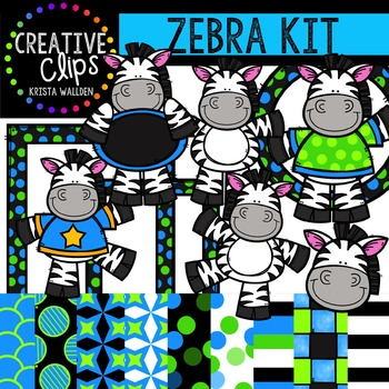 Zebra Kit {Creative Clips Digital Clipart}