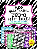 Zebra Labels You Can Customize & Edit (Avery 5160)