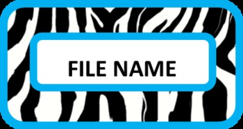 Zebra Labels for your File Cabinets