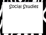 Zebra Learning Objective Boards