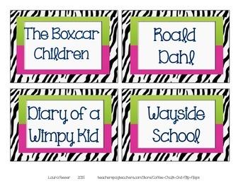 Zebra Library Labels