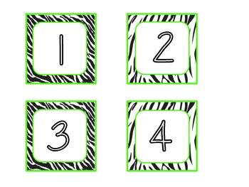 Zebra Lime Green Theme