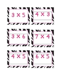 Zebra Multiplication Cards