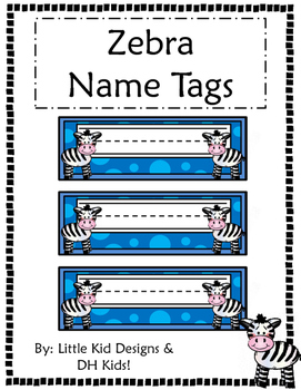 Zebra Name Tags - Printable Name Tags