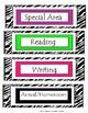 Zebra/Neon Schedule Headers