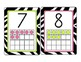 Zebra Number Cards1-20 with Ten Frames