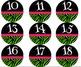 Zebra Number Circles