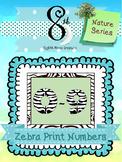 Zebra Number Clip Art