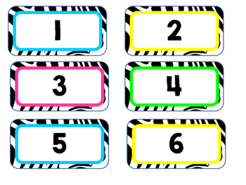 Zebra Number Labels