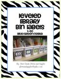 Zebra Number Labels: Leveled Library or Calendar