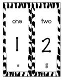 Number Line 0-120 with Base Ten Blocks--Zebra Print