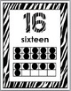 Zebra Theme Numbers 11-20 Posters with Ten Frames