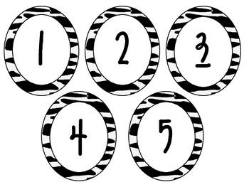 Zebra Numbers 1-100