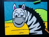 Zebra Oil Pastel Art Project