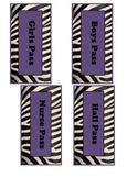Zebra Passes- Black White Purple