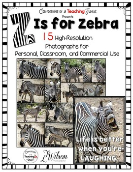 Zebra Photographs for Classroom and Commercial Use