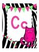 Zebra Pink Green Alphabet