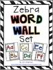 Zebra Primary Classroom Decor