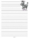 Zebra Primary Lined Paper