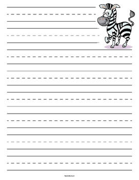 Zebra Primary Lined Paper