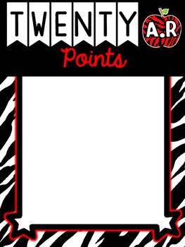 Zebra Print A.R. Reward Charts- Accelerated Reader Display