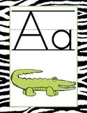 Zebra Print Alphabet