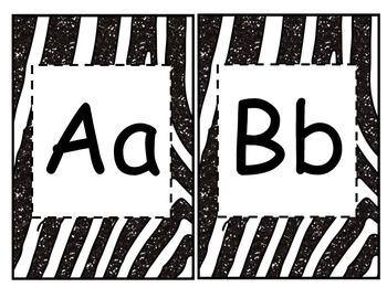 Zebra Print Alphabet Banner