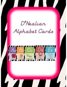 Zebra Print Alphabet Cards