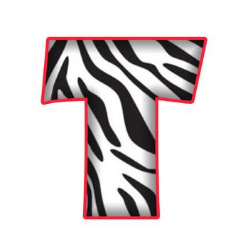 Zebra Print Alphabet Letters