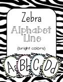 Zebra Print Alphabet Line: Bright Colors