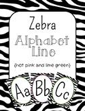 Zebra Print Alphabet Line: Hot Pink & Lime Green